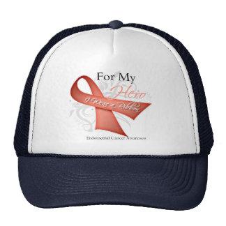 For My Hero I Wear a Ribbon Endometrial Cancer Trucker Hat