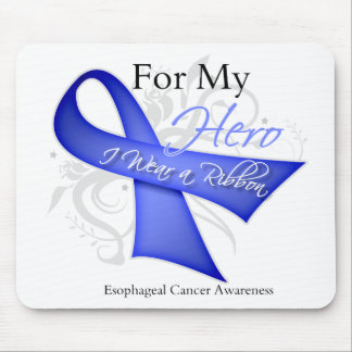 For My Hero I Wear a Ribbon Esophageal Cancer Mouse Pad