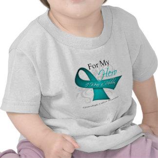 For My Hero I Wear a Ribbon Gynecologic Cancer Tshirt