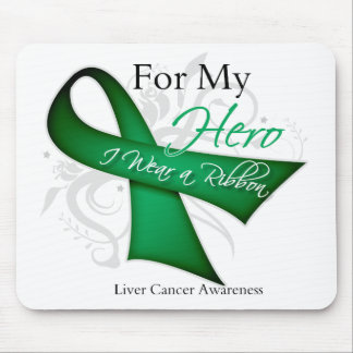 For My Hero I Wear a Ribbon Liver Cancer Mousepads