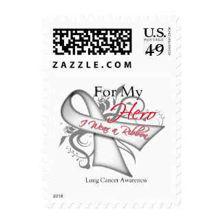 For My Hero I Wear a Ribbon Lung Cancer Stamp