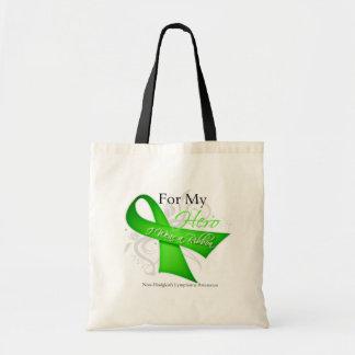 For My Hero I Wear a Ribbon Non-Hodgkin's Lymphoma Budget Tote Bag