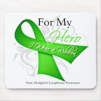 For My Hero I Wear a Ribbon Non-Hodgkin's Lymphoma Mouse Pad