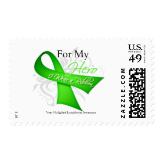 For My Hero I Wear a Ribbon Non-Hodgkin's Lymphoma Postage Stamp