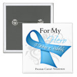 For My Hero I Wear a Ribbon Prostate Cancer Pin