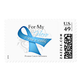 For My Hero I Wear a Ribbon Prostate Cancer Postage