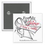 For My Hero I Wear a Ribbon - Retinoblastoma Pin