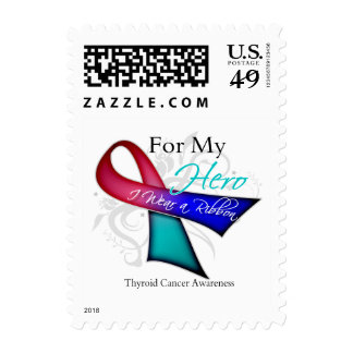 For My Hero I Wear a Ribbon Thyroid Cancer Stamp