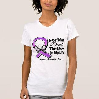 For My Hero My Dad - Purple Ribbon Awareness T Shirt