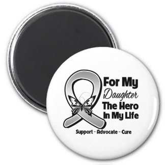 For My Hero My Daughter - Brain Cancer 2 Inch Round Magnet