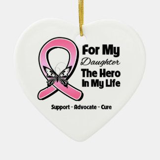For My Hero My Daughter Breast Cancer Christmas Ornament