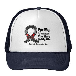 For My Hero My Fiance - Melanoma Skin Cancer Trucker Hat