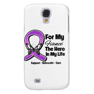 For My Hero My Fiance - Purple Ribbon Awareness Samsung Galaxy S4 Cases