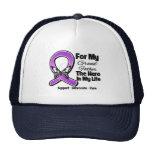 For My Hero My Grandfather - Purple Ribbon Awarene Trucker Hat