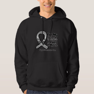 For My Hero My Mother - Brain Cancer Hooded Pullover