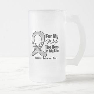For My Hero My Wife - Brain Cancer Coffee Mugs