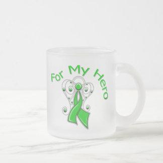 For My Hero Traumatic Brain Injury 10 Oz Frosted Glass Coffee Mug