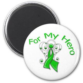 For My Hero Traumatic Brain Injury 2 Inch Round Magnet