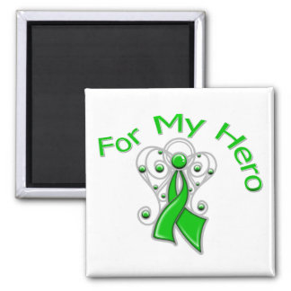 For My Hero Traumatic Brain Injury 2 Inch Square Magnet