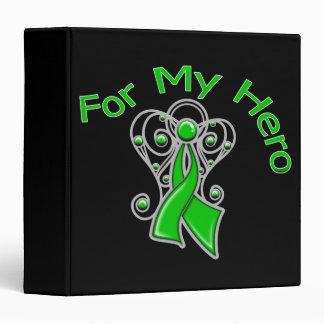 For My Hero Traumatic Brain Injury Vinyl Binder
