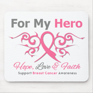 For My Hero Tribal Ribbon Breast Cancer Mouse Pad