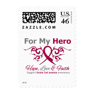 For My Hero Tribal Ribbon Sickle Cell Anemia Stamp
