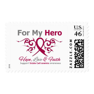 For My Hero Tribal Ribbon Sickle Cell Anemia Stamps