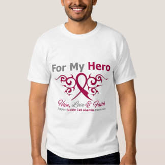 For My Hero Tribal Ribbon Sickle Cell Anemia T-Shirt