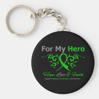 For My Hero Tribal Ribbon Spinal Cord Injury Keychains