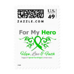 For My Hero Tribal Ribbon Spinal Cord Injury Postage