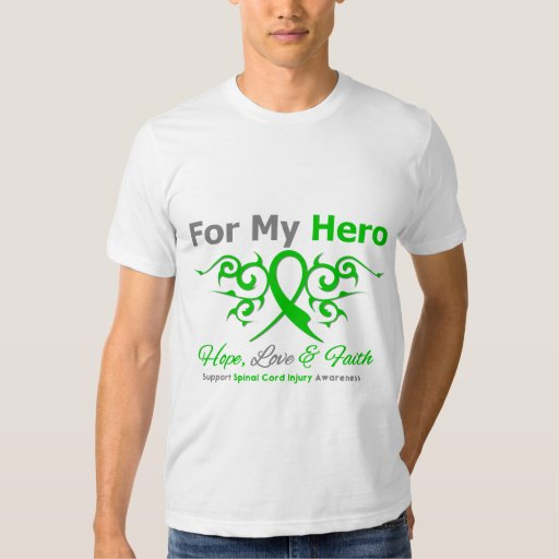 For My Hero Tribal Ribbon Spinal Cord Injury Tshirts