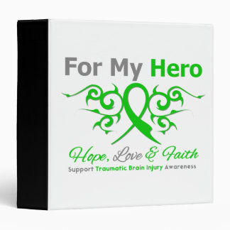 For My Hero Tribal Ribbon Traumatic Brain Injury Binder