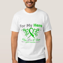 For My Hero Tribal Ribbon Traumatic Brain Injury T-Shirt