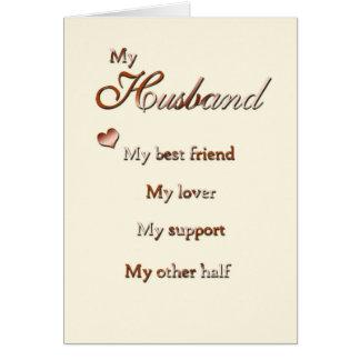For My Huband (anniversary) Card