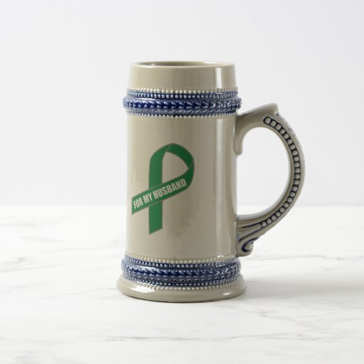 For My Husband (Green Ribbon) Beer Stein
