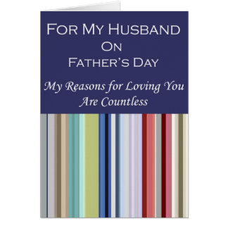 For My Husband on Father's Day Card