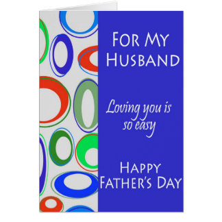 For My Husband on Father's Day Greeting Cards