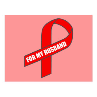 For My Husband (Red Ribbon) Postcard