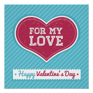 For my love Happy Valentines day Poster