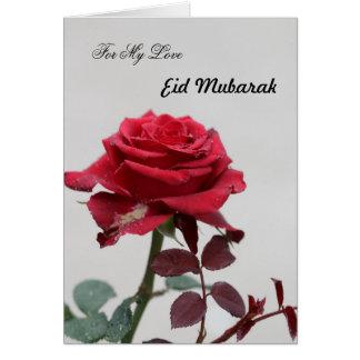 For my Love on Eid Mubarak Card