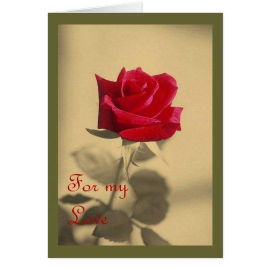 For My Love: Vintage Valentine Card