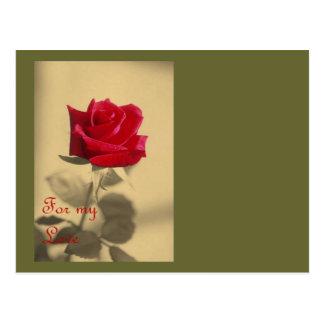 For My Love: Vintage Valentine Postcard