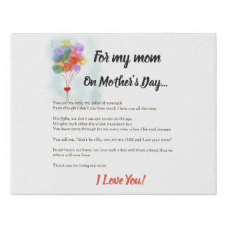 For my mom faux canvas print