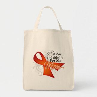 For My Mom - Leukemia Ribbon Canvas Bag