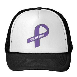 For My Mom (Purple Ribbon) Trucker Hats