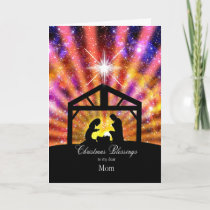 For my mom, sunset Christmas Holiday Card