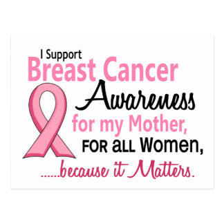 For My Mother Breast Cancer Awareness Postcard