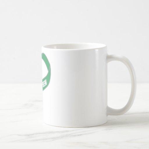 For My Nephew (Green Ribbon) Classic White Coffee Mug