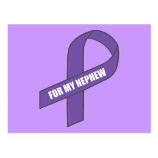 For My Nephew (Purple Ribbon) Postcard