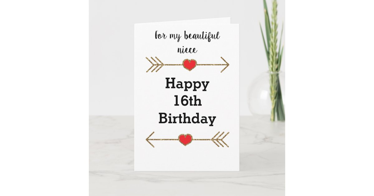 For My Niece 16th Birthday Card Zazzle